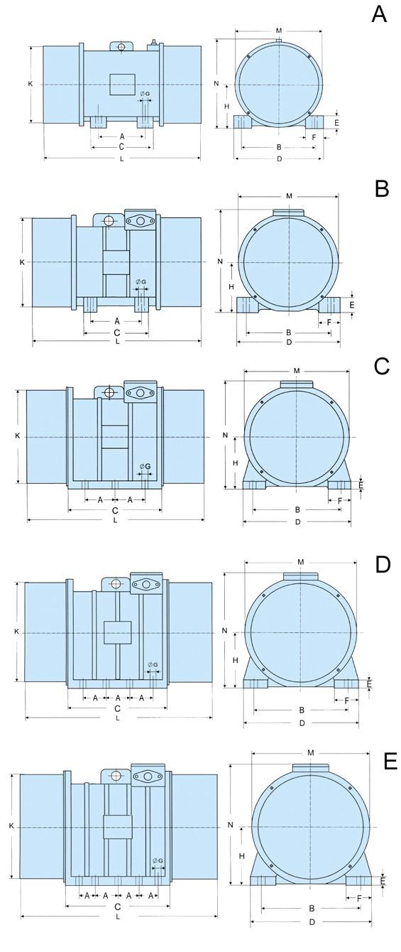 MV振动电机组成结构